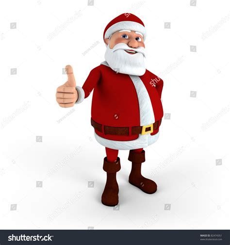 santa claus thumbs up santa claus giving thumbs up high quality 3d illustration 82474351