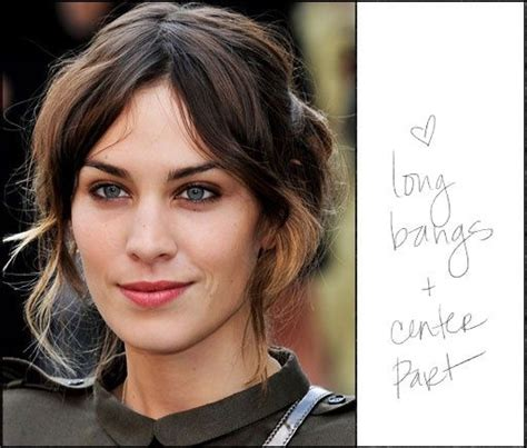 short hairstyles with center part and bangs long bangs center part bad hairday not pinterest