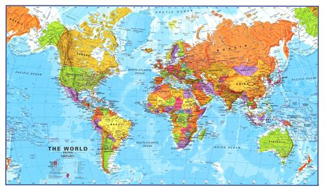 large world map large world map breeds picture