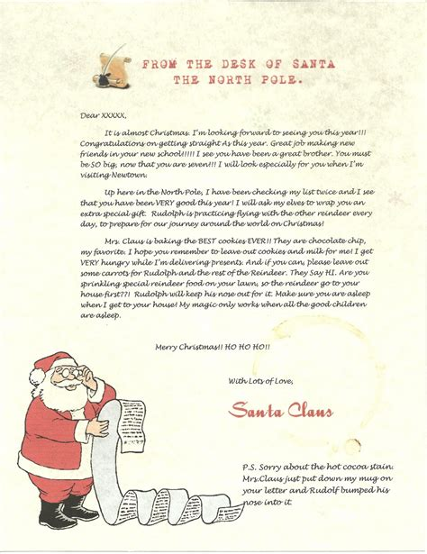 letter from santa claus template letterstosantatemplate new calendar template site