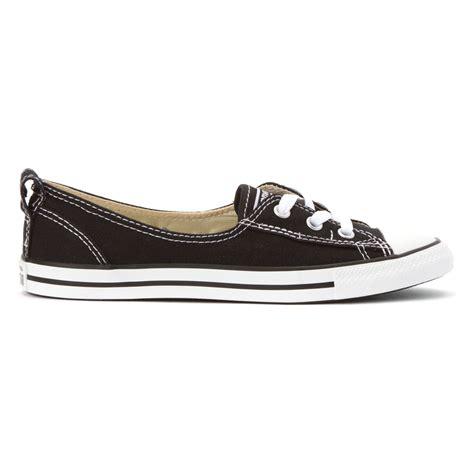 converse ballet sneakers converse chuck ballet lace sneaker in black lyst