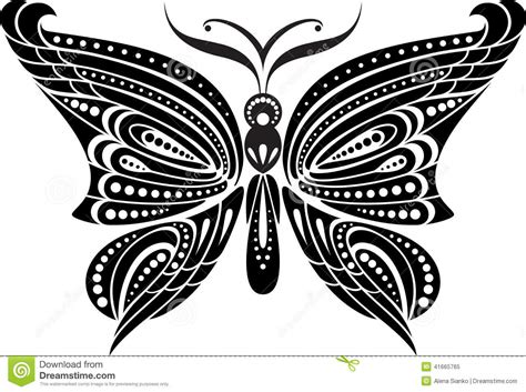 imagenes en blanco ynegro para dibujar papillon de silhouette avec les ailes sensibles dessin