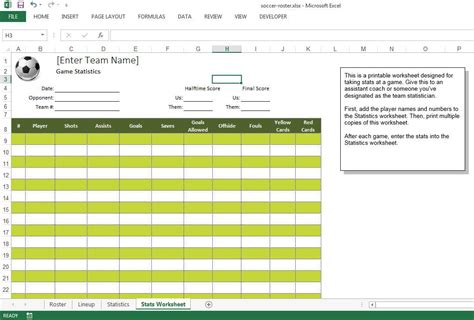 Soccer Roster Free Excel Template Excel Templates For Every Purpose Team Roster Template Excel
