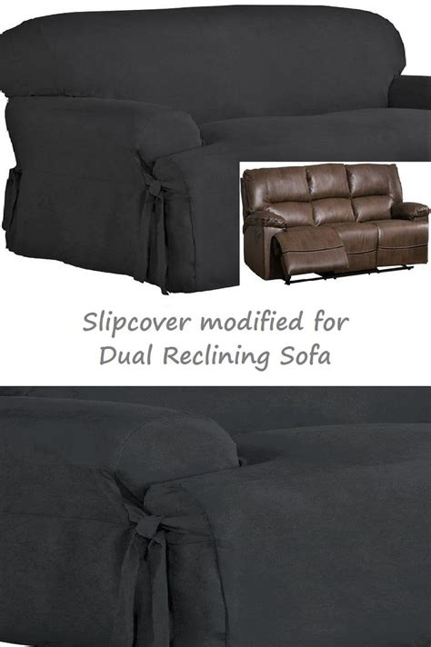 dual reclining sofa slipcover 17 best images about slipcover 4 recliner couch on