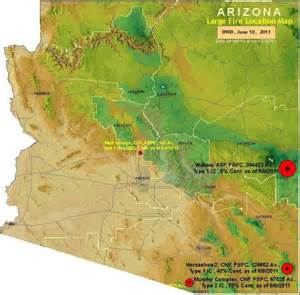 fires in arizona map maps and status of the wallow wildfire today