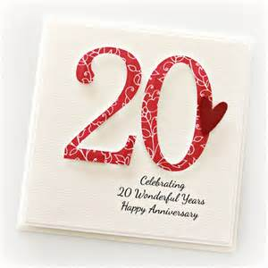 20th anniversary custom card personalised wedding anniversary china the card boutique