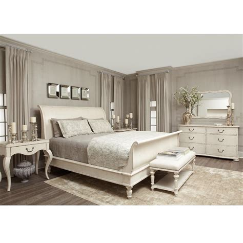 White Sleigh Bed Reine Country Antique White Sleigh Bed Kathy Kuo Home