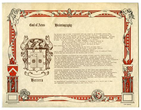 historic meaning historiography and coat of arms for herrera family the