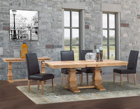 mediterranean dining room set abode crafted wood furnishings