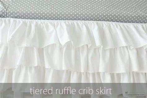 How Much Fabric For Crib Skirt by Diy Ruffled Crib Skirt Benna Noelle Grey