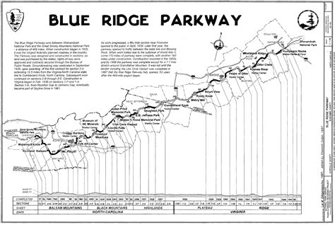 map of blue ridge parkway trail maps wiki blue ridge parkway