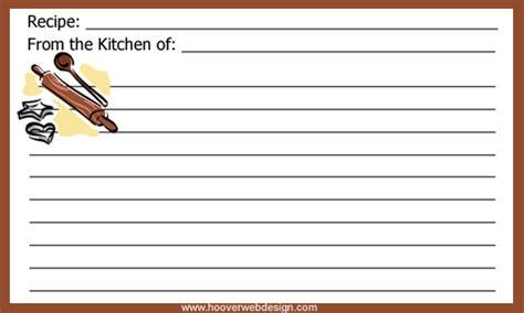 printable baking theme recipe cards