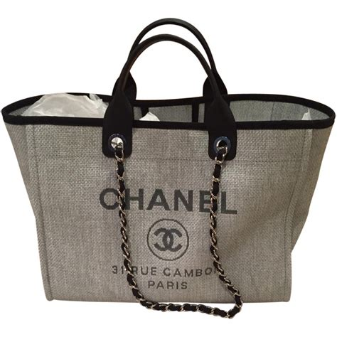 Chanel Deauville Shopping Tote Bags 972 chanel grey deauville tote chanel chanel gray and bag