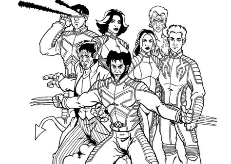 free coloring pages of wolverine the x man