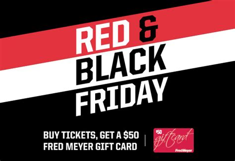 Gift Card Black Friday Sale - blazers black friday sale get 50 fred meyer gift card when you buy tickets frugal