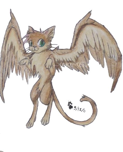 cute anime cat with wings drawings winged cat for ronekimew by saku senpai on deviantart