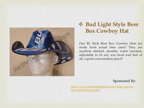 bud light cowboy hat best bud light beer box cowboy hats