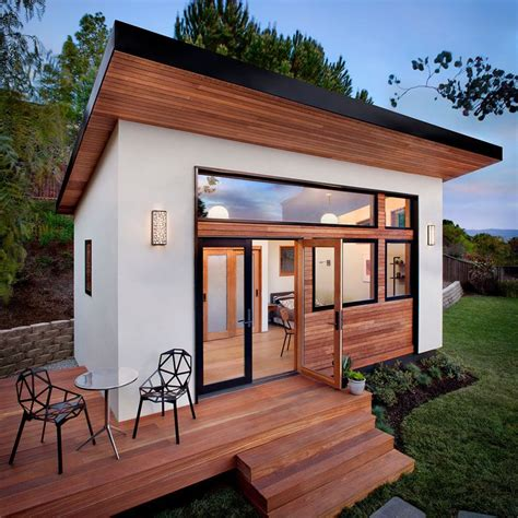 prefab backyard guest house a small contemporary guest house with compact living