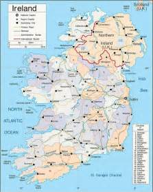 ireland map with cities size map of ireland showing