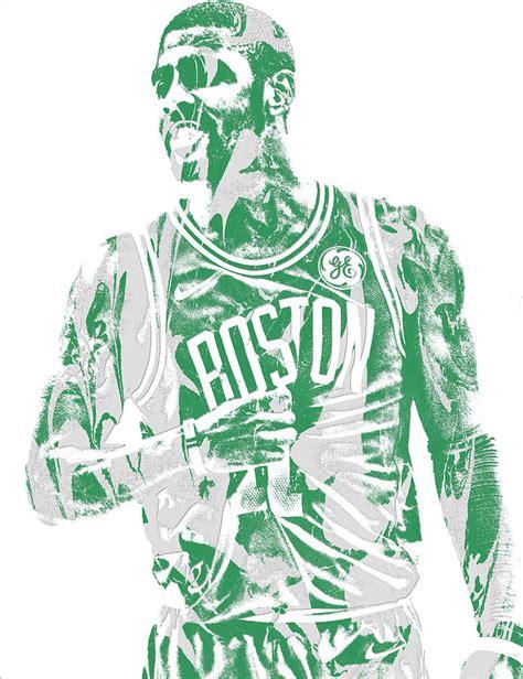 Sports Duvet Covers Kyrie Irving Boston Celtics Pixel Art 7 Mixed Media By Joe