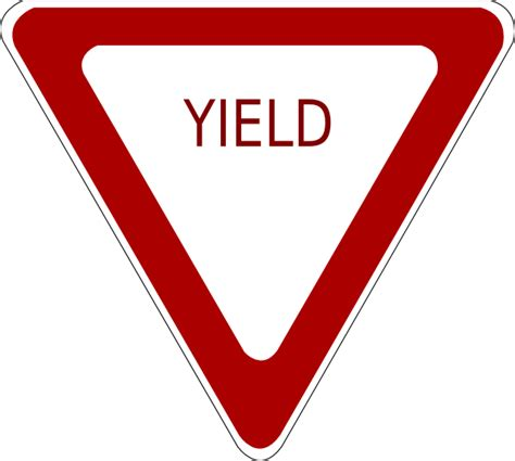 best yield draw yield sign clipart best
