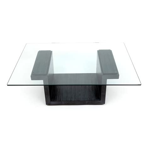 glass center table rectangular glass center table graphite oak artless