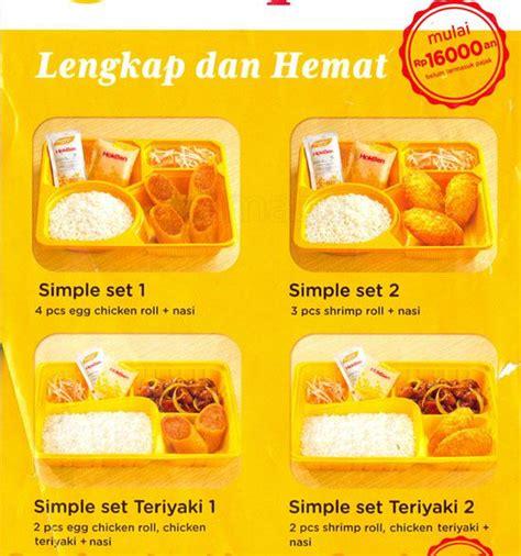 Murah Bento 3 Sekat Kotak Bento Hokben Lunch Box Bento hokben menu menu for hokben denpasar bali zomato indonesia
