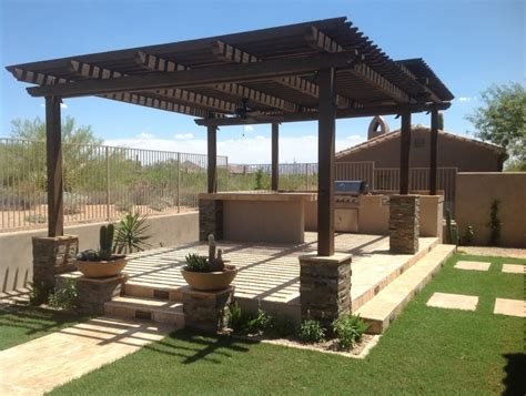 wood pergola with roof images