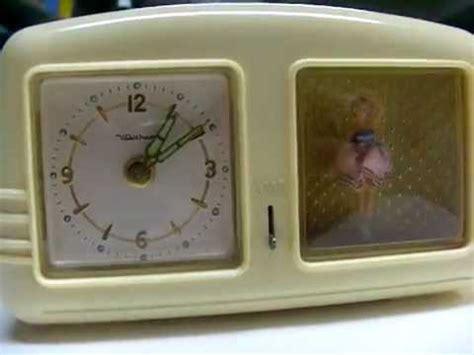 vintage waltham dancing ballerina musical alarm clock