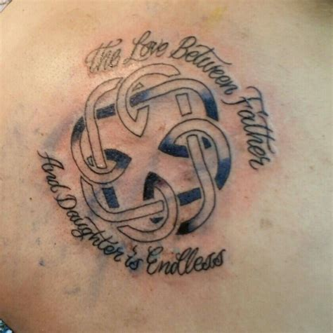father daughter tattoos symbols and celtic knot pinteres