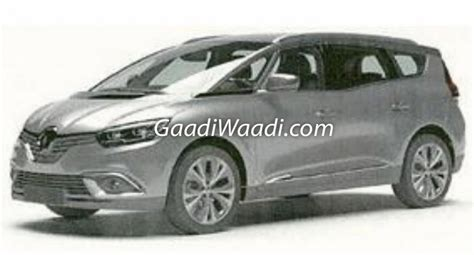 renault mpv 2017 renault grand scenic patented in india