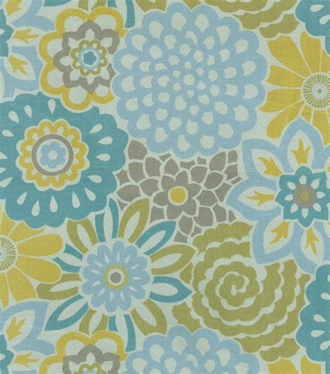 home decor sheer fabric waverly button blooms spa sheer