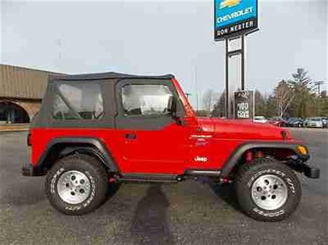 Ragtop Jeep Find Used 98 Jeep Wrangler Sport 4x4 4 0l Ragtop Stick New