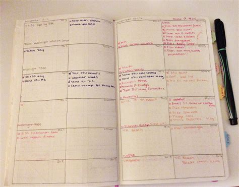 planner com diy planner moleskine hack update cup of tea