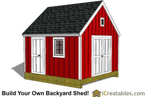 Build Your Own Outdoor Shed by 12x12 Shed Plans Build Your Own Storage Lean To Or