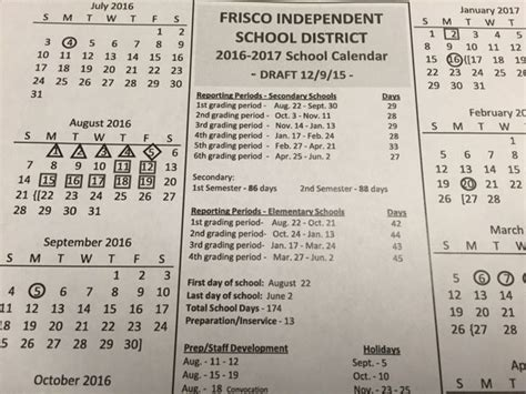 Coppell Isd Calendar Proposed Frisco Isd Calendar For 2016 17 Has Fewer School