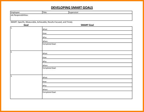 5 smart goal worksheet pdf cv for teaching