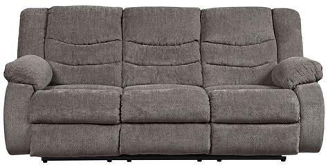 tulen reclining sofa reviews signature design by tulen gray reclining sofa