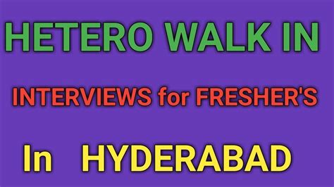 Walkins For Mba Freshers In Hyderabad This Week by Hetero Pharma Walk In Interviews For Freshers In Hyderabad