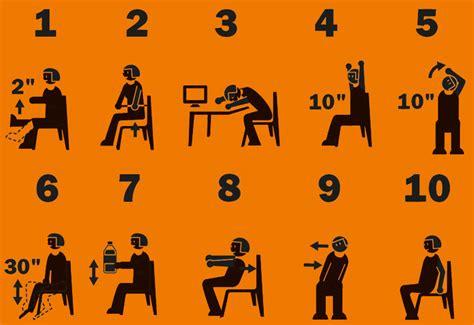 esercizi alla scrivania 10 esercizi che si possono fare in ufficio da seduti