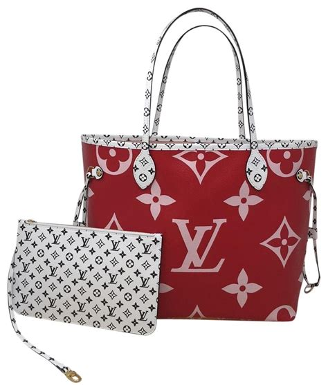 louis vuitton neverfull monogram giant mm rouge coated