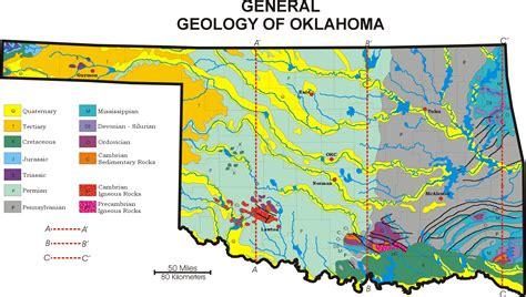geographical map of oklahoma oklahoma geological survey