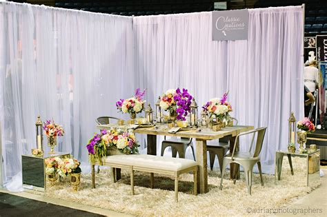 design wedding booth industrial glamour okanagan bridal expo booth 2014