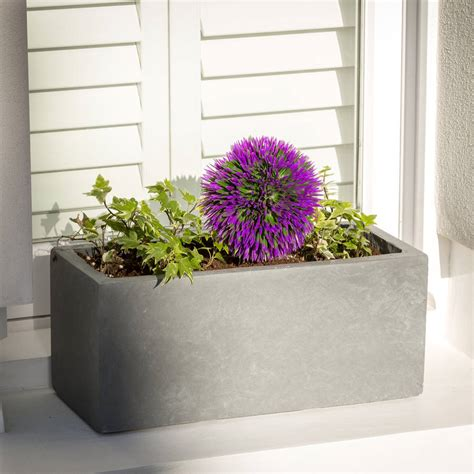 small window box planter small window box planter in parisian grey by bay and box
