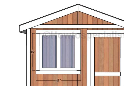 Shed Window Trim by Small Garden Shed Door And Trim Plans Howtospecialist
