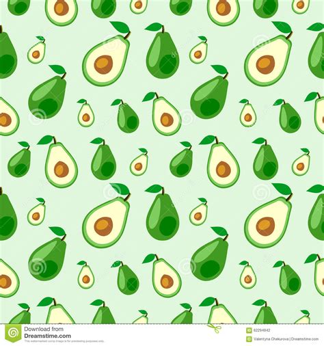 cute avocado pattern seamless vector pattern fruits chaotic background with