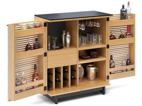 Compact Bar Cabinet Bdi Corridor 36 X 18 5 White Oak Compact Bar Cabinet 5620 Wok