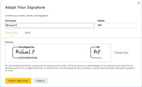 how do i sign a docusign document docusign support center
