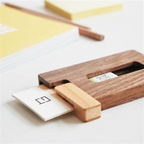 make business card holder creative solid wood cardcase business card holder portable