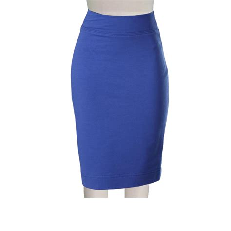 plus size royal blue ponte knit pencil skirt elizabeth s